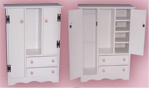 Awesome Wardrobe Closet: American Girl Wardrobe Closet Plans