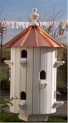 Purple martin bird house amish wooden martin birdhouses for Martin house designs