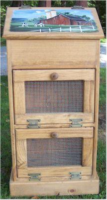 Heavy Duty Trucks >> Amish Wooden Vegetable Storage Bins