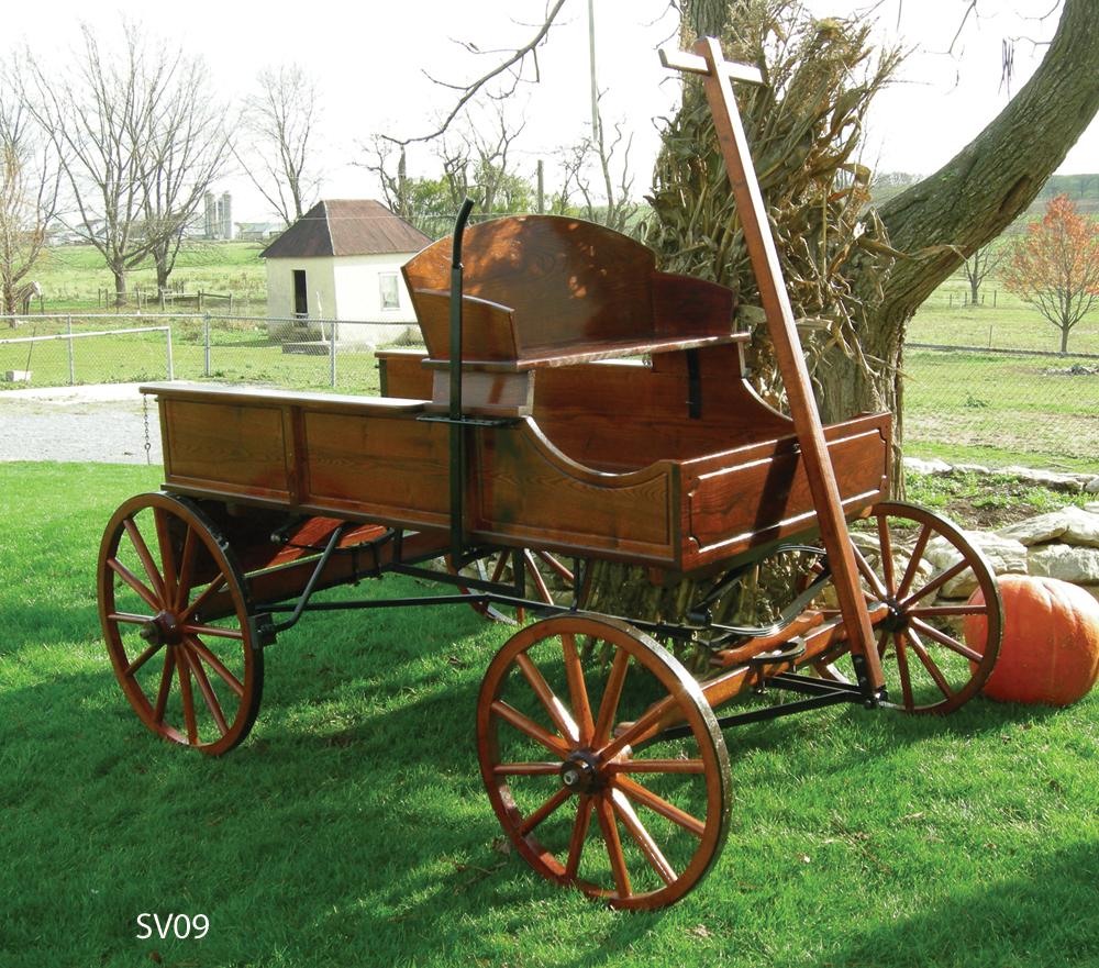 Buckboard Wagons Amish Wooden Wagon - Amishshop.com