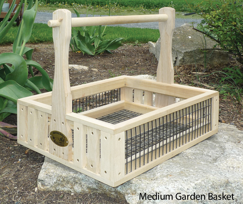 Garden Baskets Amish Handcrafted Wooden Basket