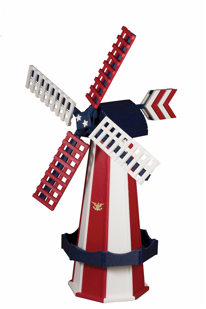 Wooden Windmills Decorative Lawn Poly Windmill