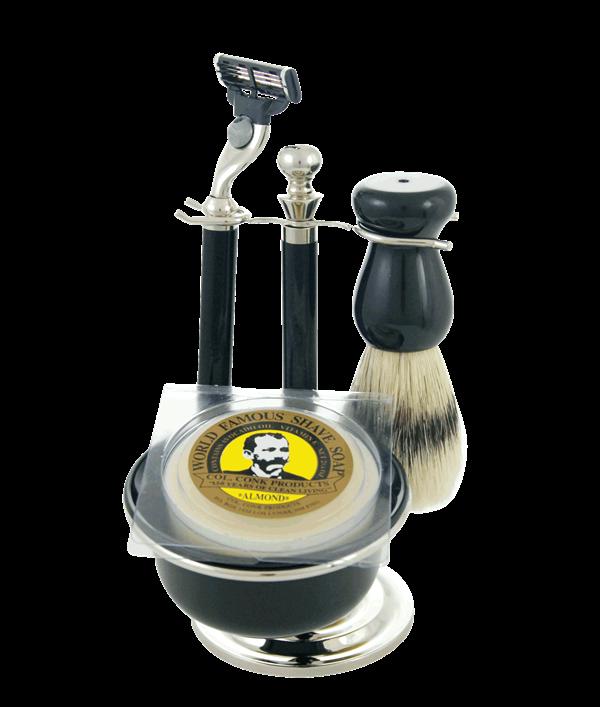 Shaving Sets Merkur Conk Onyx Ricado's Mens Shop