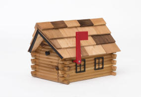 Click On Picture Of Mailbox To View Enlarged Use Back Return Here The Real Log Cabin Is Made Pine And Given A Clear Coat