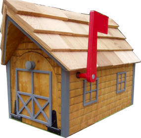 Log Cabin Look Mailbox Shown With Dark Gray Trim On Left And White Right Click Picture Of To View Enlarged Use Back Return